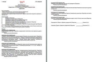 протокол собрания учредителей о смене директора образец